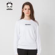 Hipanda 你好熊猫 设计潮牌 女款 刺绣白色卫衣 288元
