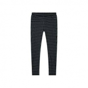 maxwin 女式梭织格纹九分裤