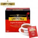 波兰进口 Twinings 川宁 英国早餐红茶 50片*4盒 ¥104.4包邮26.1元/盒