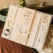 kinbor 二十四节气 亲子练字 硬笔书法文具礼盒(2本瘦金体练字帖/2本正楷练字本/钢笔/墨水/铅笔)  券后29元¥29