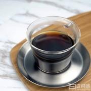 Kinto Cast系列 玻璃咖啡杯 带不锈钢托盘 220ml 23085 Prime会员凑单免费直邮含税