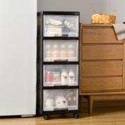 BELO百露塑料收纳柜四层透明款+凑单品