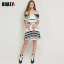 Krazy 女士露肩连衣裙29元(需用券)