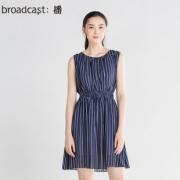 broadcast 播 DDK2L171B32 女士条纹连衣裙 158元¥158