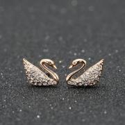 Swarovski 施华洛世奇 Swan Mini 璀璨天鹅穿孔耳钉 5144289