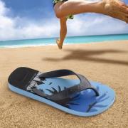 巴西原产 Dupe 海湾风情 夏季潮款 男天然橡胶人字拖 宽带鞋不勒脚 49元包邮 正价239元