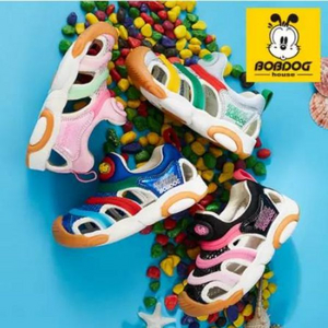 Bobdog 巴布豆 2019新款儿童包头机能凉鞋 多色