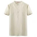 比菲力 中国风 男士立领 亚麻短袖衬衫 59元包邮(需用券)59元包邮(需用券)