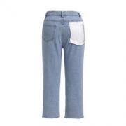 设计师品牌 XU ZHI 编绳流苏口袋牛仔裤 蓝色 12 759元包邮759元包邮