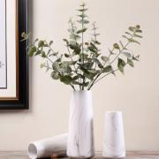 HoataiCeramic北欧ins风陶瓷花瓶摆件石纹直筒款(单花瓶)大号