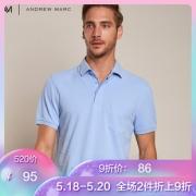 ANDREW MARC XFSTM8GP188MNY1 男士纯棉修身POLO衫 *2件 171元包邮(立减,合85.5元/件)¥95