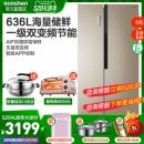 Ronshen 容声 BCD-636WD11HPA 对开门冰箱 636升 3179元(需用券)¥3779