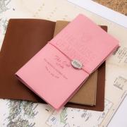kinbor 迪士尼 IMQ91203 皮面绑带旅行本 自带2本内芯 棕色/粉色 9.9元包邮(需用券)¥10