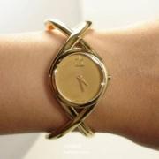 CALVIN KLEIN 女士镀黄金时装手表史低$49.99(需用码)