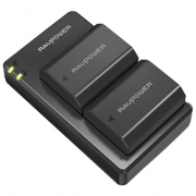 RAVPower 索尼单反NP-FZ100 相机电池 2电1充套装329元包邮