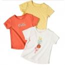 maxwin 马威 女小童短袖T恤 3件装 68元包邮(需用券)¥68