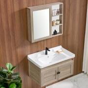 DKNA 丹拿卫浴 浴室柜镜柜组合套装 浴室柜+镜柜+面盆 800mm 699元包邮(需用券)