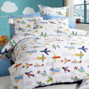 Dohia多喜爱全棉斜纹床单四件套飞行梦1.5米床