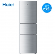 18日0点:Haier 海尔 BCD-206STPA 206L 三门冰箱 999元包邮(前100返400猫超卡)¥999