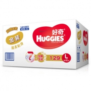 88VIP:HUGGIES 好奇 金装 婴儿纸尿裤 L129片 *2件 296.1元包邮(合148.05元/件)¥296