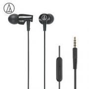 audio-technica 铁三角 ATH-CLR100is WH 入耳式线控通话耳机 黑色 118元包邮
