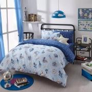 梦洁宝贝 儿童纯棉床品三件套/四件套 太空飞行 1.2~1.5米