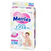 88VIP:Merries 妙而舒 婴儿纸尿裤 L 54片 4包 279.4元包邮(需用券)¥279