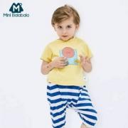 Mini Balabala 2019夏季新款休闲两件套条纹套装 2色59.9元包邮(需领券)