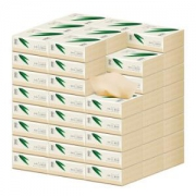 DELLBOO良布超韧母婴本色抽纸3层100抽*24包*2件43元包邮(合21.5元/件)