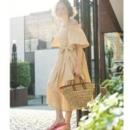 snidel 一字肩 蝴蝶结 长款连衣裙降至7210日元(约¥458)