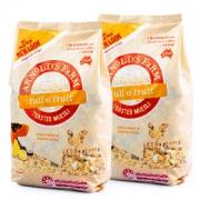 维密超模推荐 澳洲进口 Arnolds farm 无糖脱脂 水果燕麦片 2斤 2袋69.9元包邮 3-5月新日期