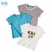 优衣库制造商,Maxwin 马威 男童中小童纯棉短袖T恤 3件组合装68元包邮(需领券)
