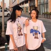 网红联名Kaws情侣T恤2件¥49