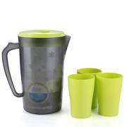 Beihe 贝合 塑料冷水壶 雪花款 2.2L +3只杯