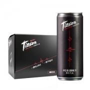 Tieson 天向 黑罐弱碱气泡苏打水 0糖0热量 330ml*6罐 15.8元包邮