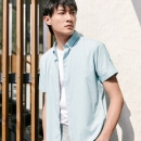 HLA 海澜之家 HNECJ2R045A 男士休闲短袖衬衫 98元包邮¥98