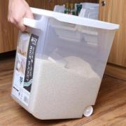 CHAHUA茶花2310立方型米桶15kg送量杯带底滑轮*3件