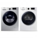 SAMSUNG三星9公斤滚筒洗衣机+9公斤干衣机组合WW90K5410US/SC+DV90M5200QW/SC6844元包邮