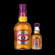 CHIVAS芝华士12年苏格兰威士忌500ml+赠50ml小酒版+芝华士酒壶