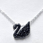 SWAROVSKI 施华洛世奇 5347329 当家款大号黑色天鹅项链