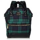 ANELLO 高密度涤纶迷你格纹口金 双肩背包 绿色折后3152日元(约¥201)