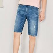 森马 男士牛仔短裤 2色