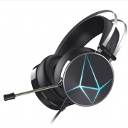 历史低价: DARE-U 达尔优 EH722 电竞版 头戴式游戏耳机 冰蓝色 3.5mm+USB 99元包邮