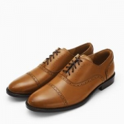 InteRight男士布洛克商务皮鞋