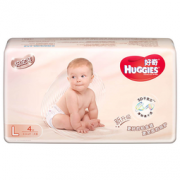 HUGGIES 好奇 铂金装 婴儿纸尿裤 L4片  1元包邮