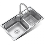MICOE 四季沐歌 M-B2005(78)-H 304不锈钢 厨房水槽双槽套装 396元包邮