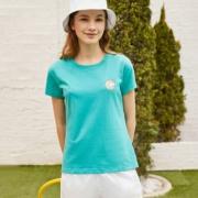 Yessing 女式海洋主题精致印花T恤