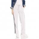 PRIMEDAY活动,Armani Exchange 阿玛尼副牌 女式 阔腿带条纹抽绳裤子 白色 限M码199.55元