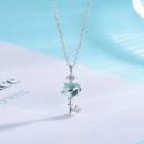 alivinee 阿莉维妮 S925纯银 银河星球水晶钥匙吊坠129元包邮(需用券)