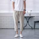 棉麻混纺 男宽松休闲裤 29.8元包邮¥30
